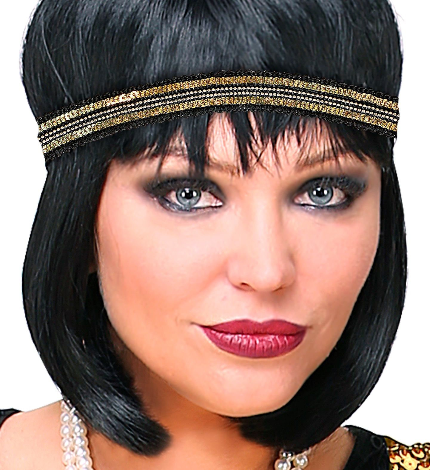 Goud zwarte retro hoofdband