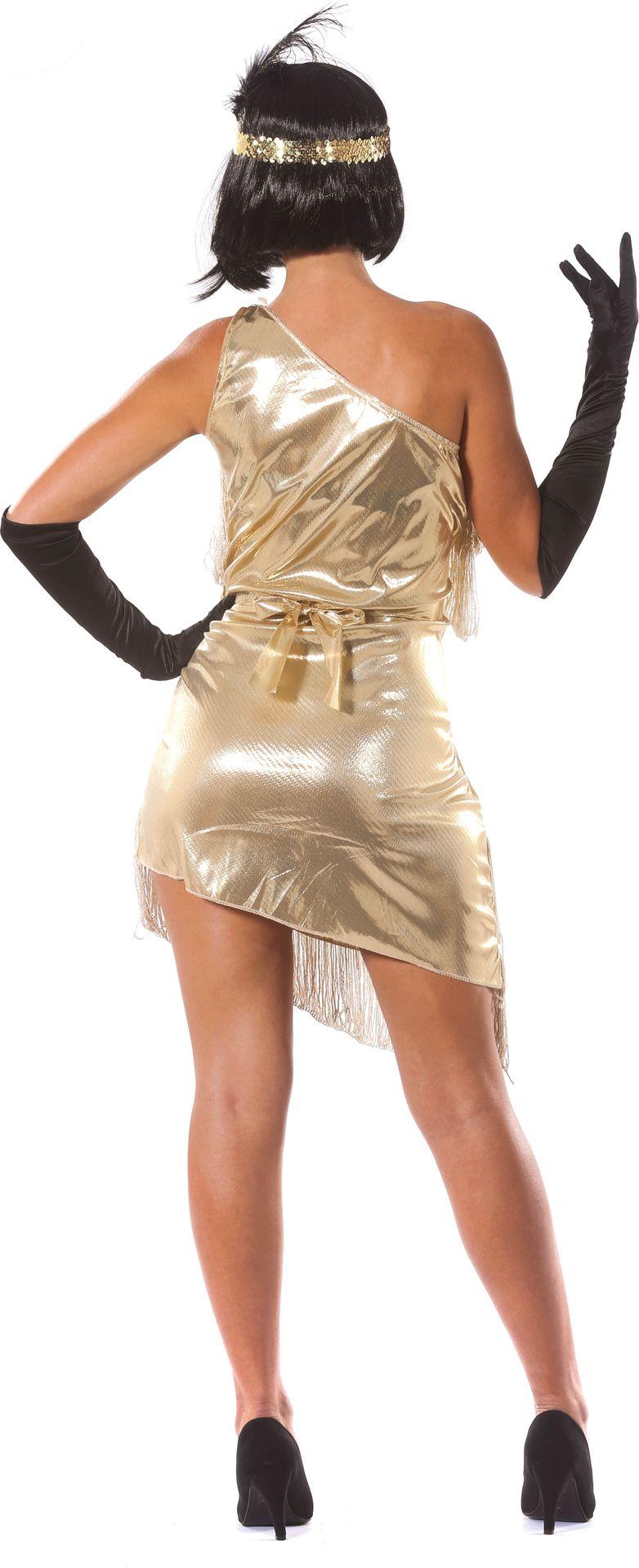 Gouden charleston jurk dames