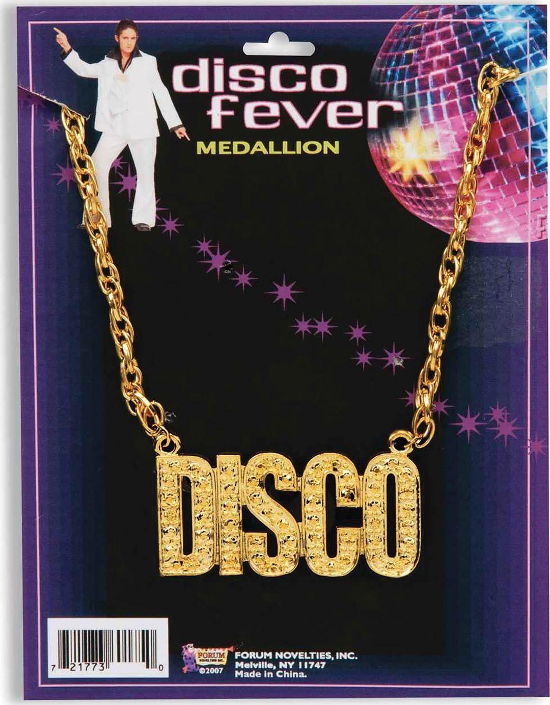 Gouden disco ketting