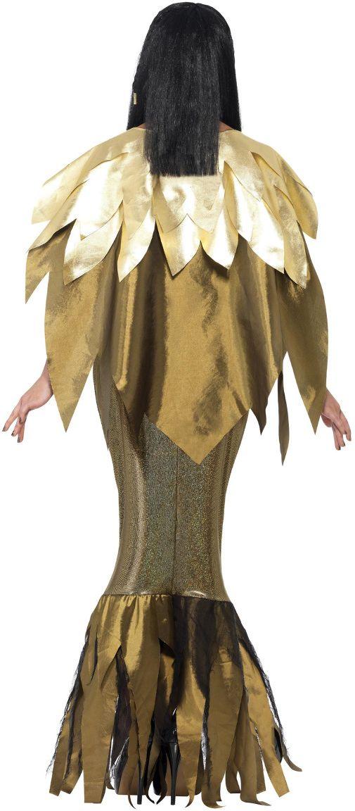 Gouden donkere cleopatra jurk