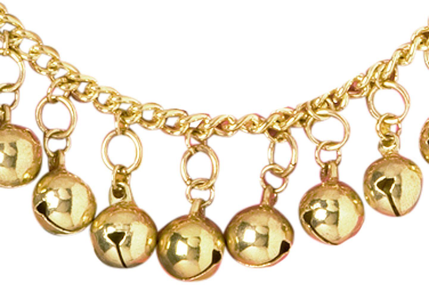 Gouden enkelband met belletjes