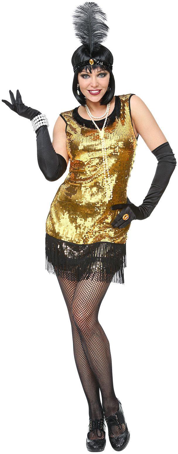 Gouden flapper jurk 20s