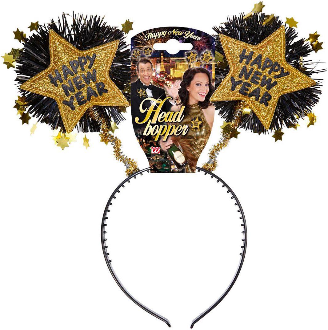 Gouden gelukkig nieuwjaar hoofdband