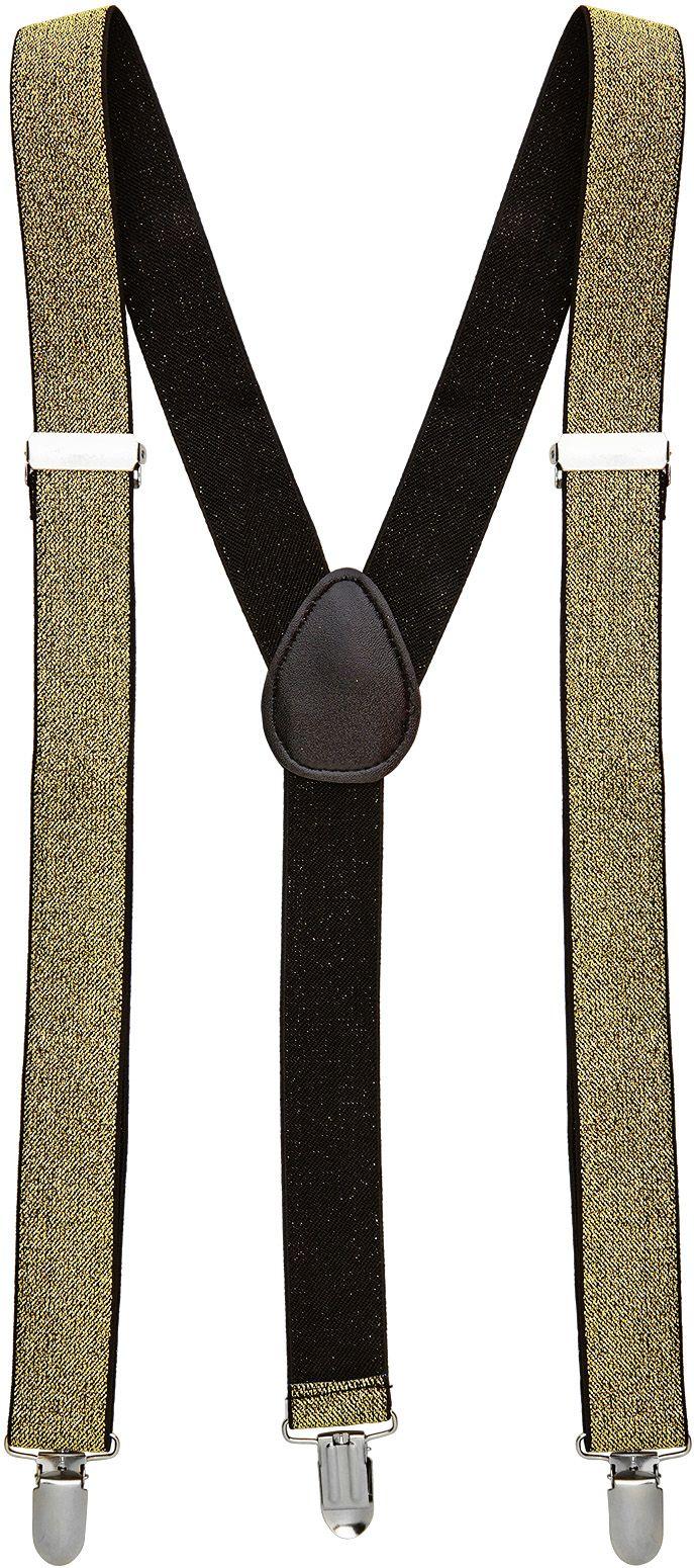Gouden glitter bretels