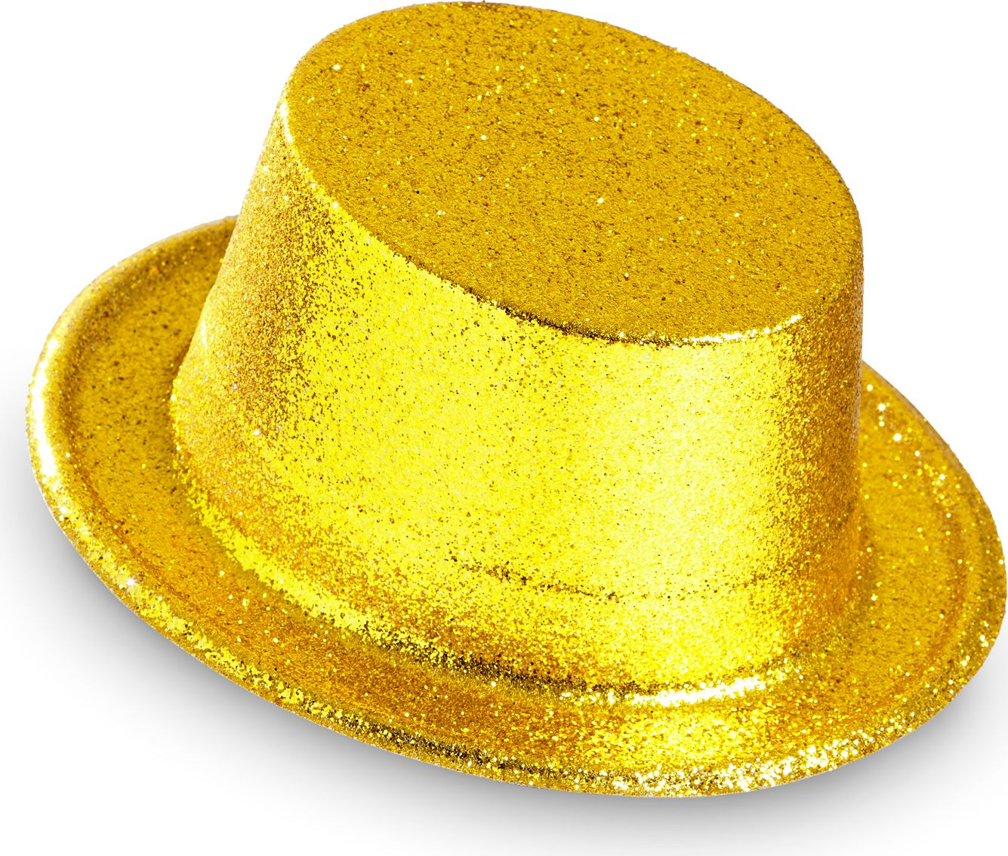 Gouden glitter hoge hoed