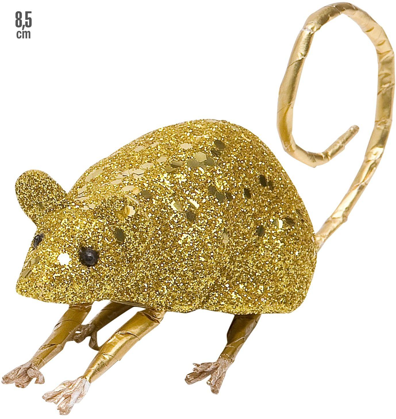 Gouden glitter muis