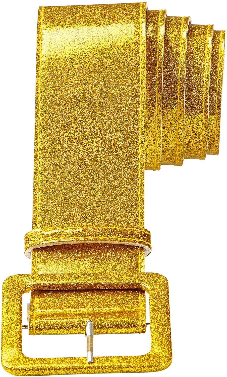 Gouden glitter riem dames