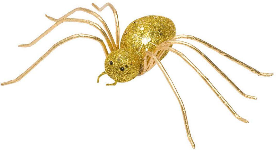 Gouden glitter spin decoratie