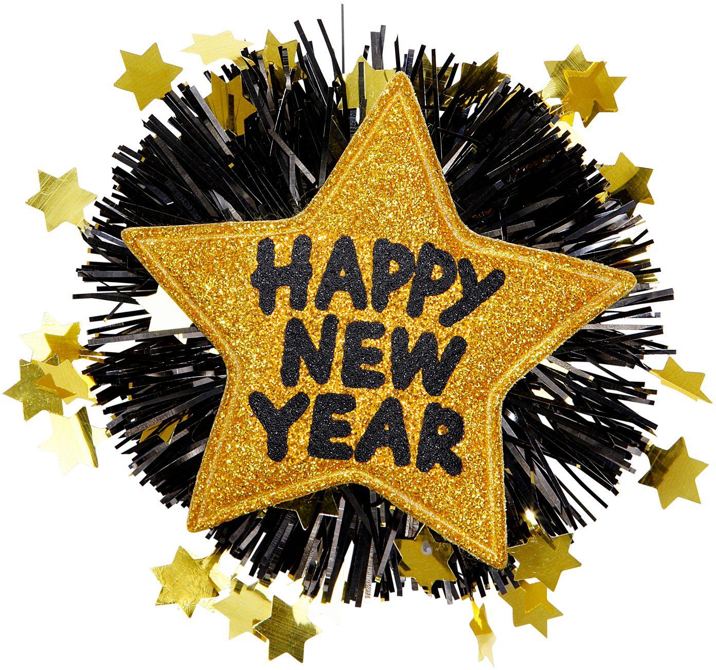 Gouden Happy New Year broche