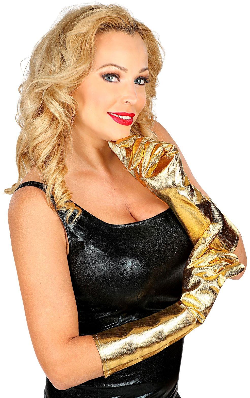 Gouden metallic handschoenen