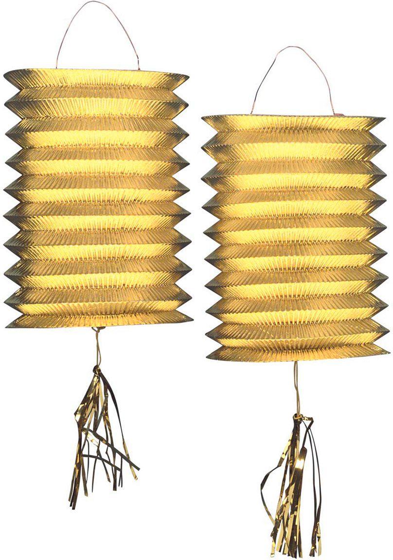 Gouden metallic lampionnen