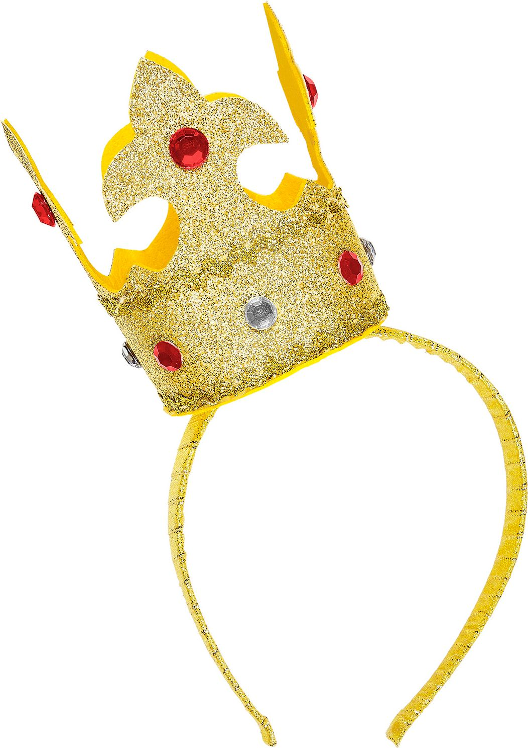 Gouden mini glitter kroon hoofdband