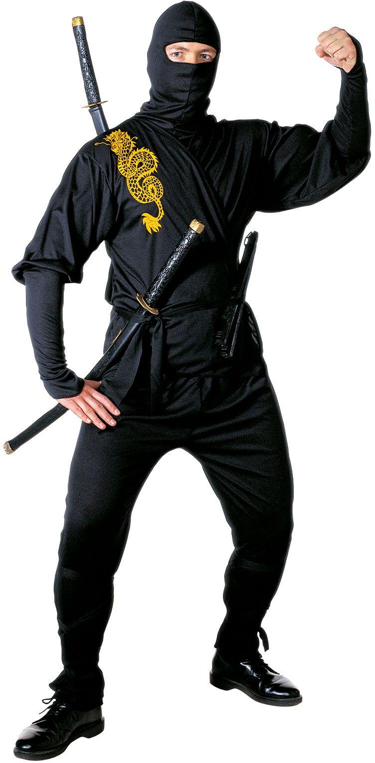 Gouden ninja kostuum