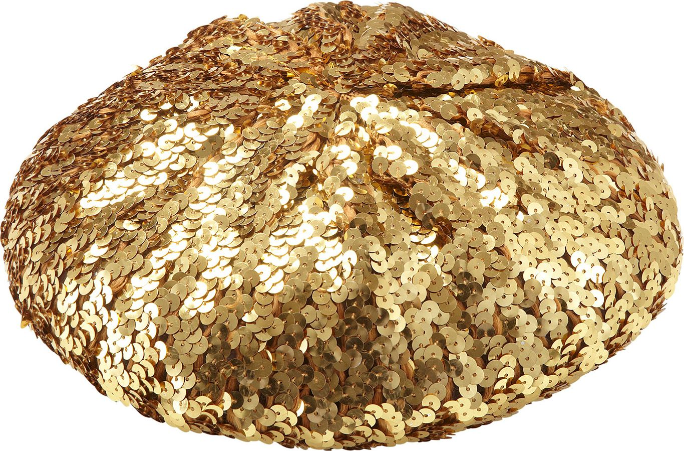 Gouden pailletten basco muts