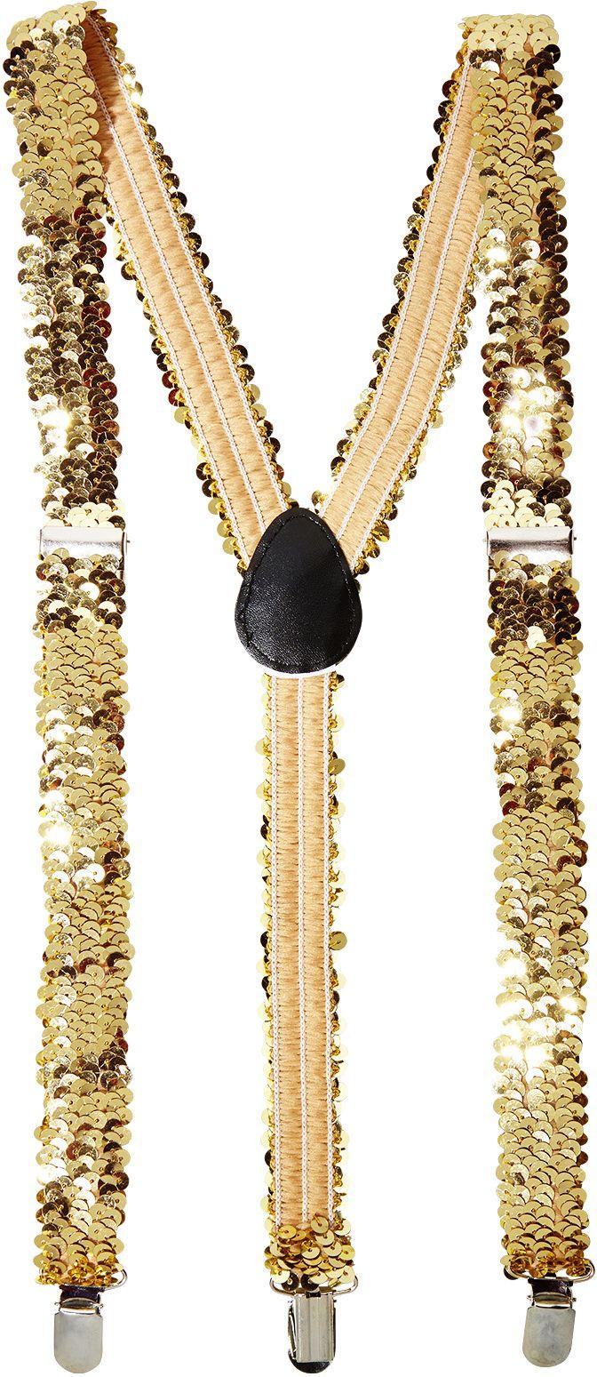 Gouden pailletten bretels