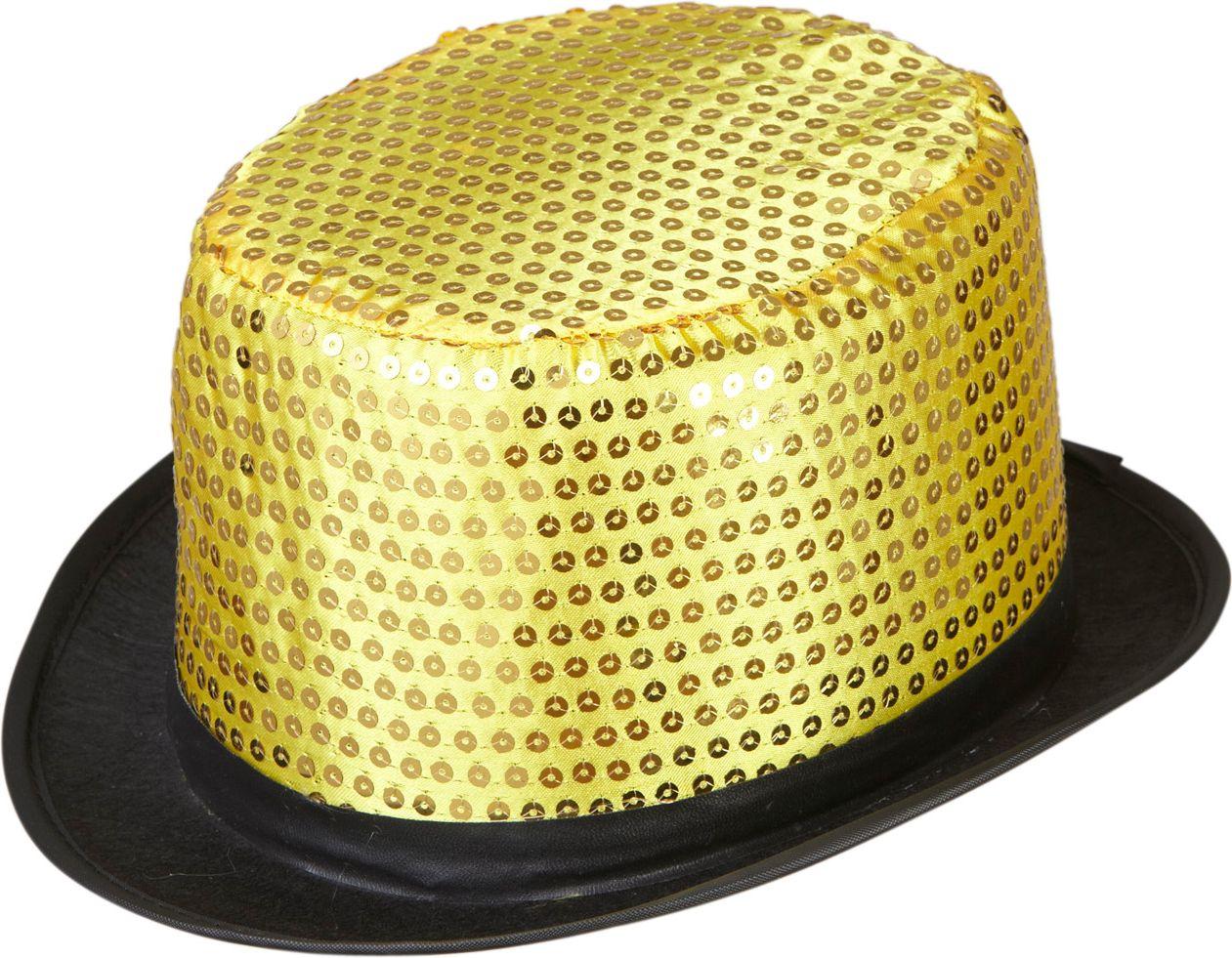 Gouden pailletten hoge hoed