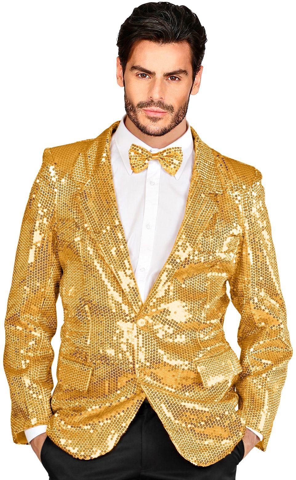 Gouden pailletten jas