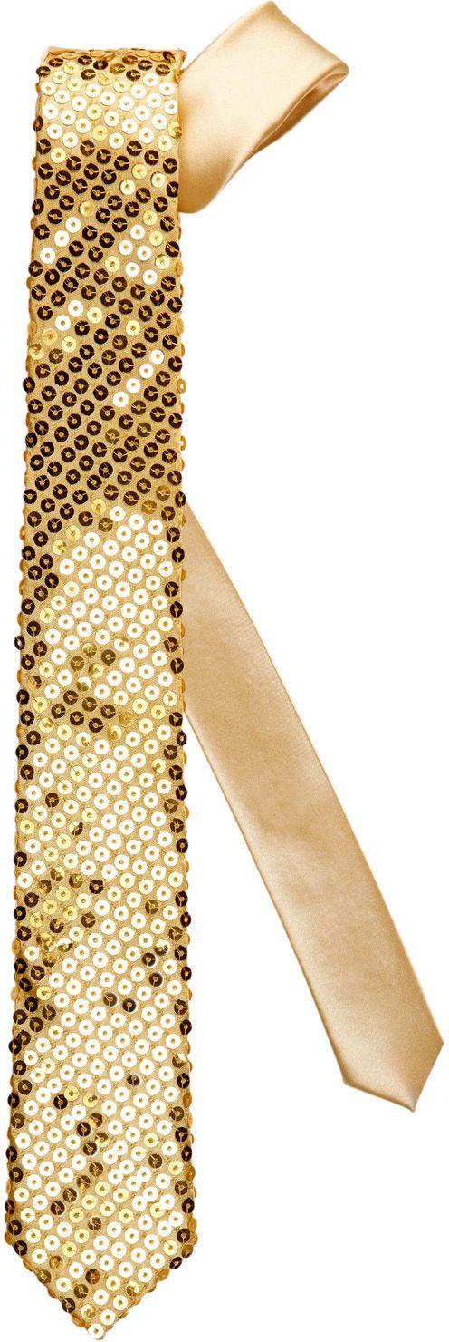 Gouden pailletten stropdas
