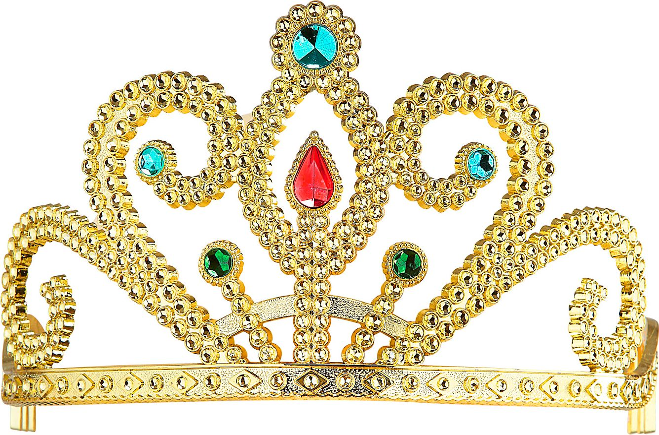 Gouden prinsessenkroon met diamanten