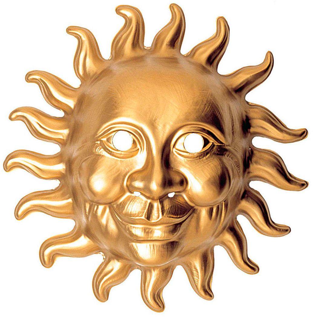 Gouden pvc zon masker
