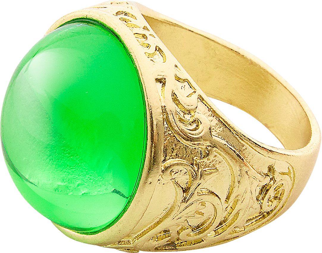 Gouden ring met groen juweel