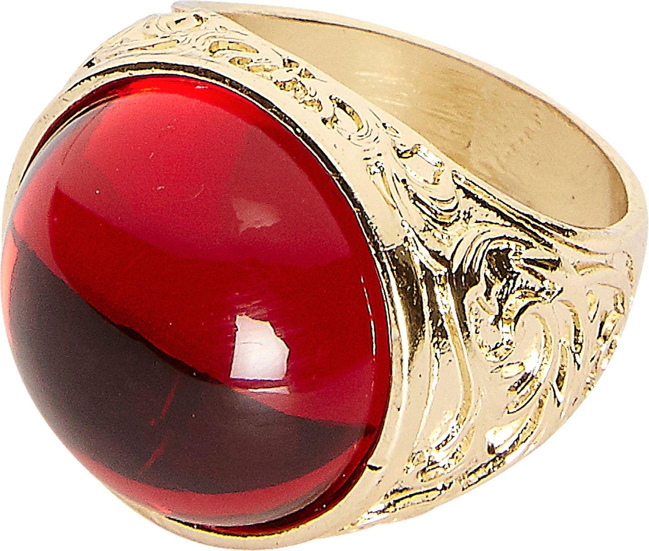 Gouden ring met rode juweel