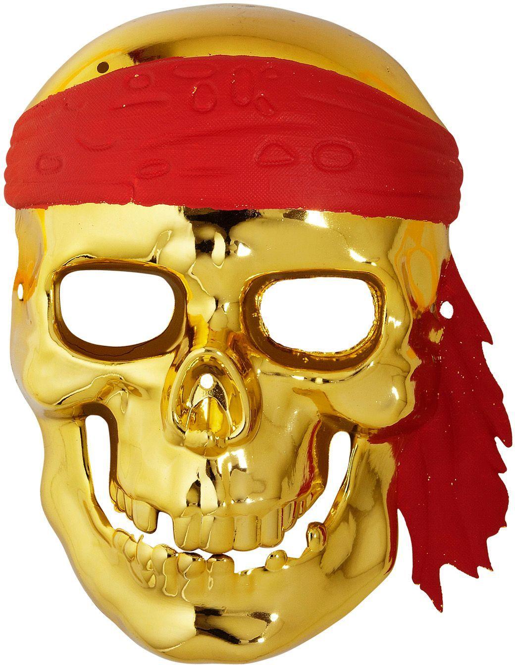 Gouden schedelmasker piraat