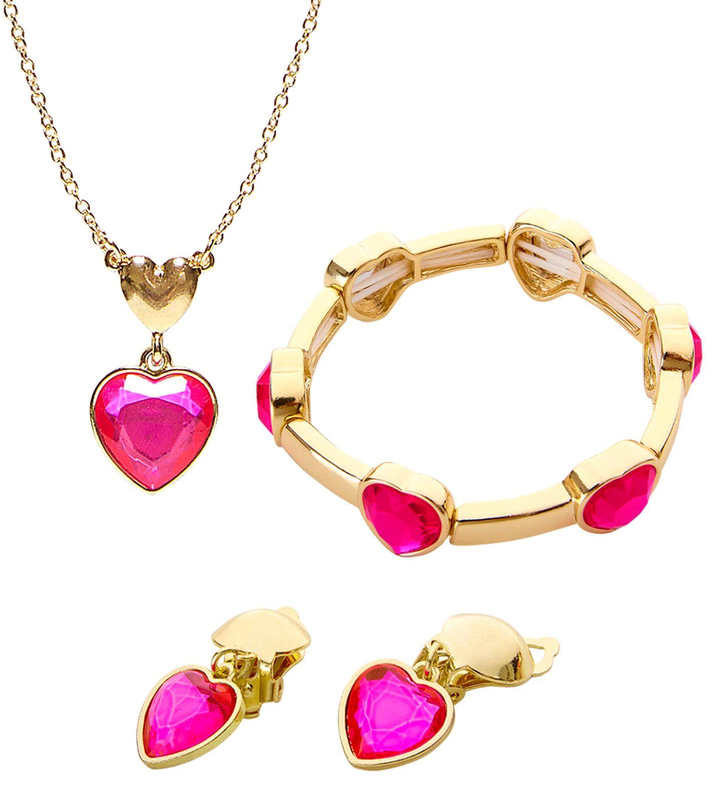Gouden sieraden set met hartjes
