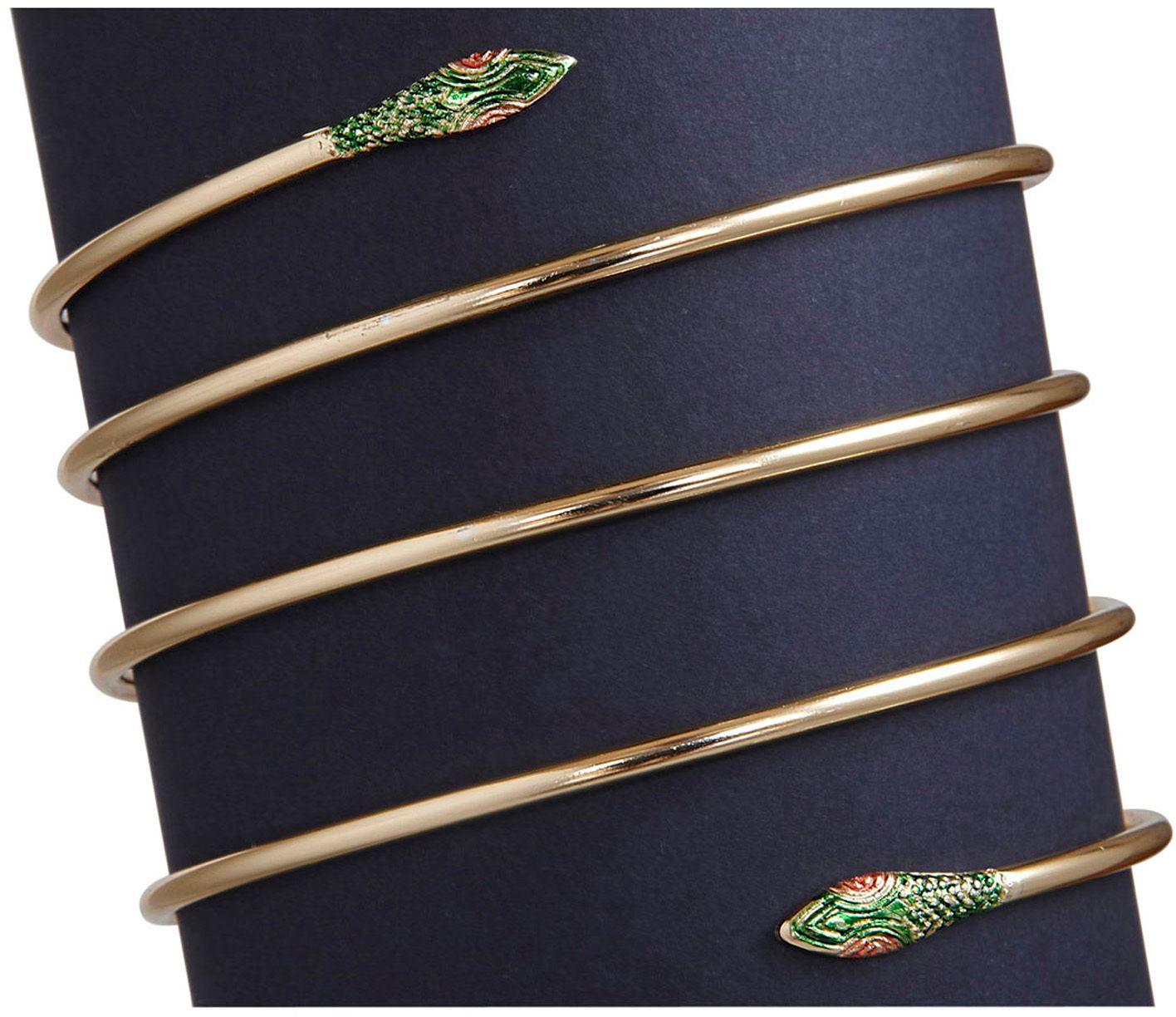 Gouden slangen armband