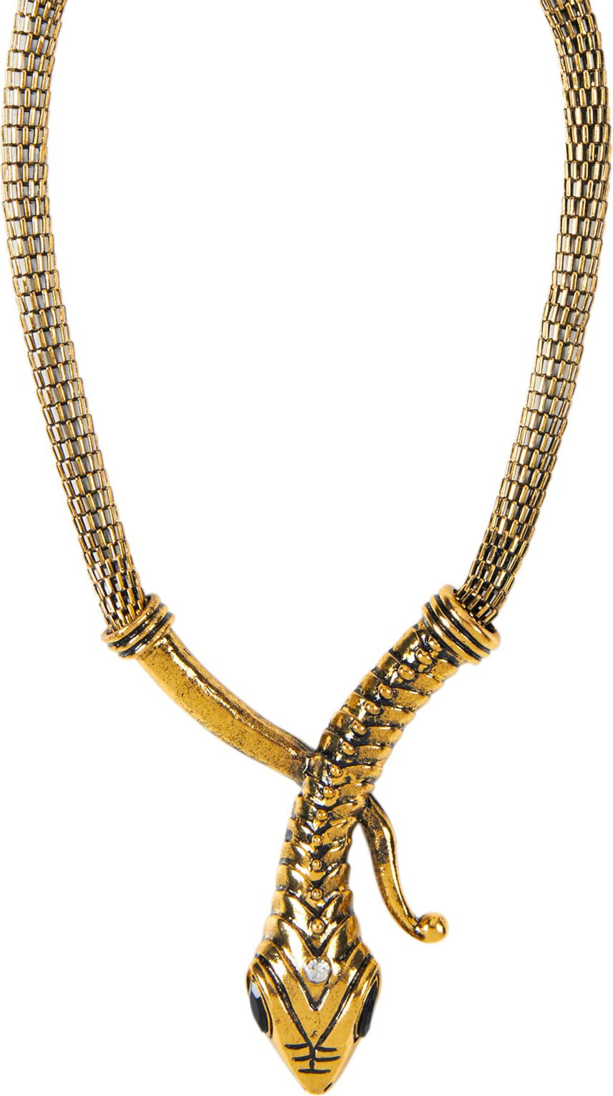 Gouden slangen ketting