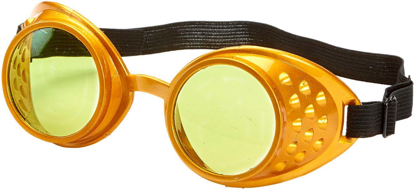 Gouden steampunk bril