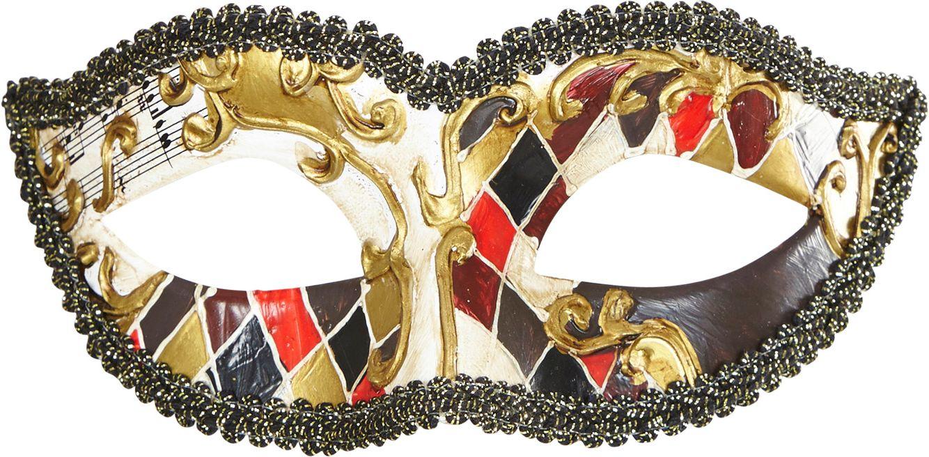 Gouden venetiaans harlekijn oogmasker