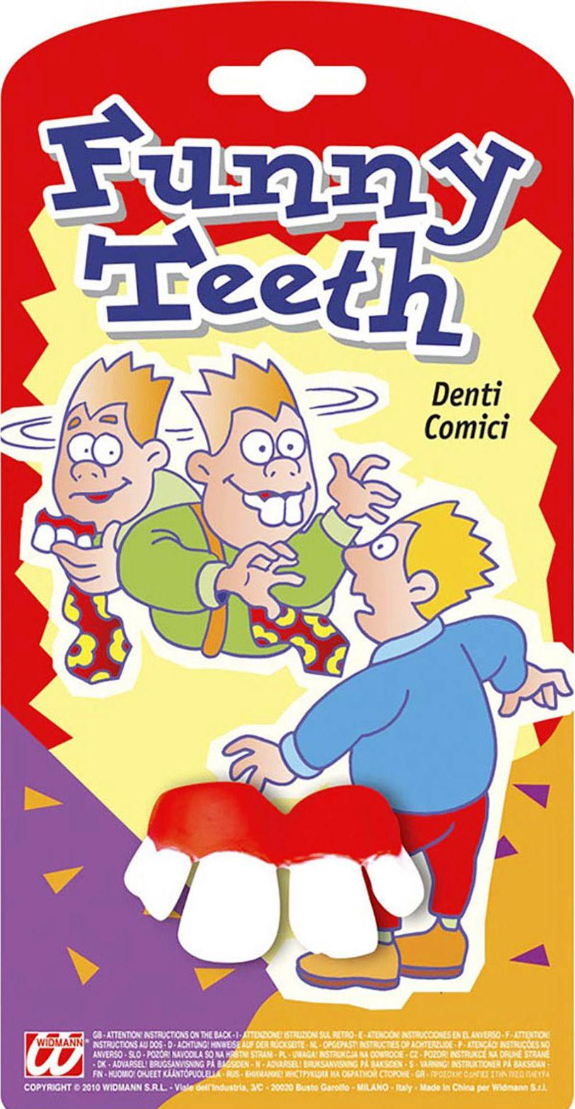 Grappige fop tanden