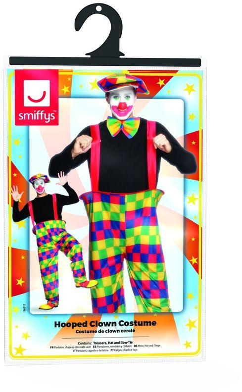 Grappige geblokte clowns outfit