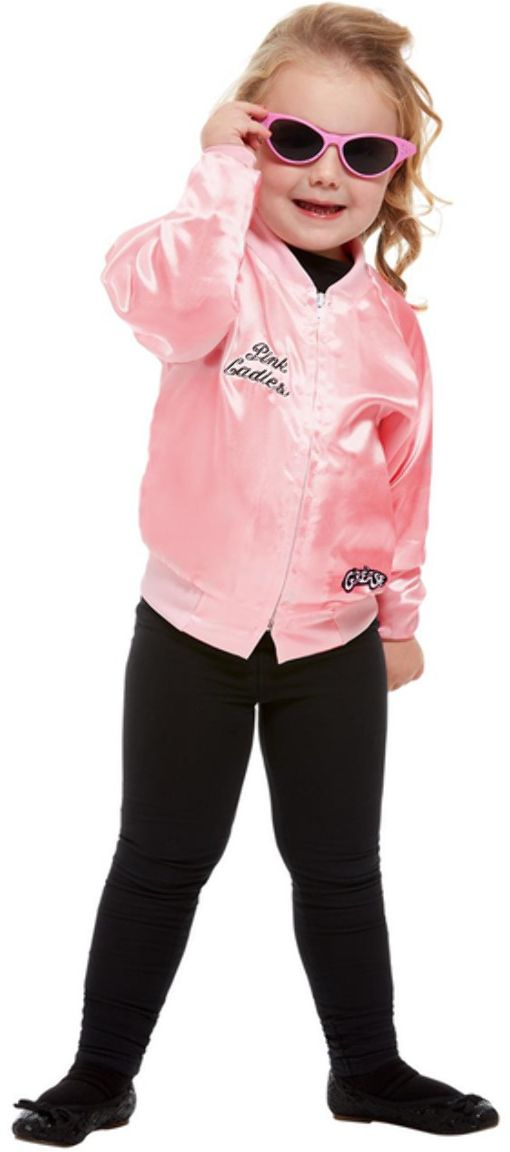 Grease meisjes roze jacket pink ladies