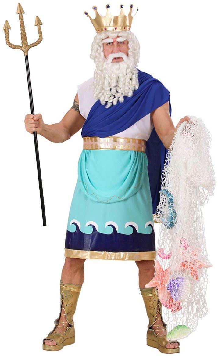 Griekse god Poseidon kostuum