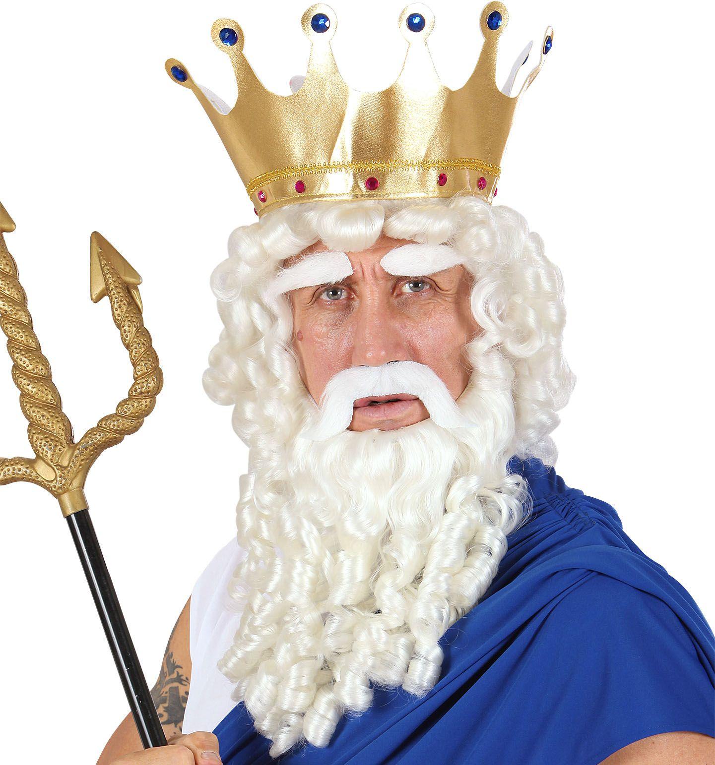 Griekse god Zeus pruik