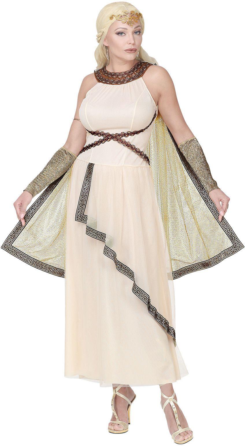 Griekse godin jurk wit