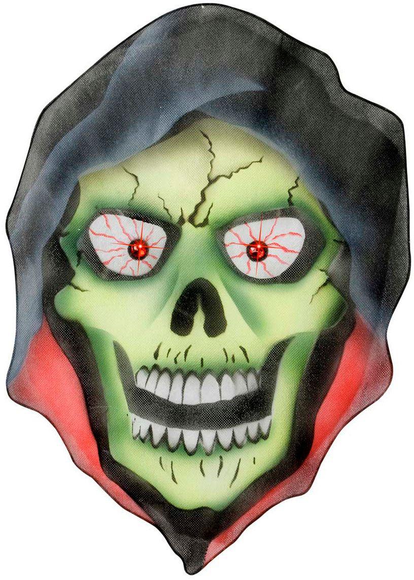 Griezelig skelet hoofd decoratie