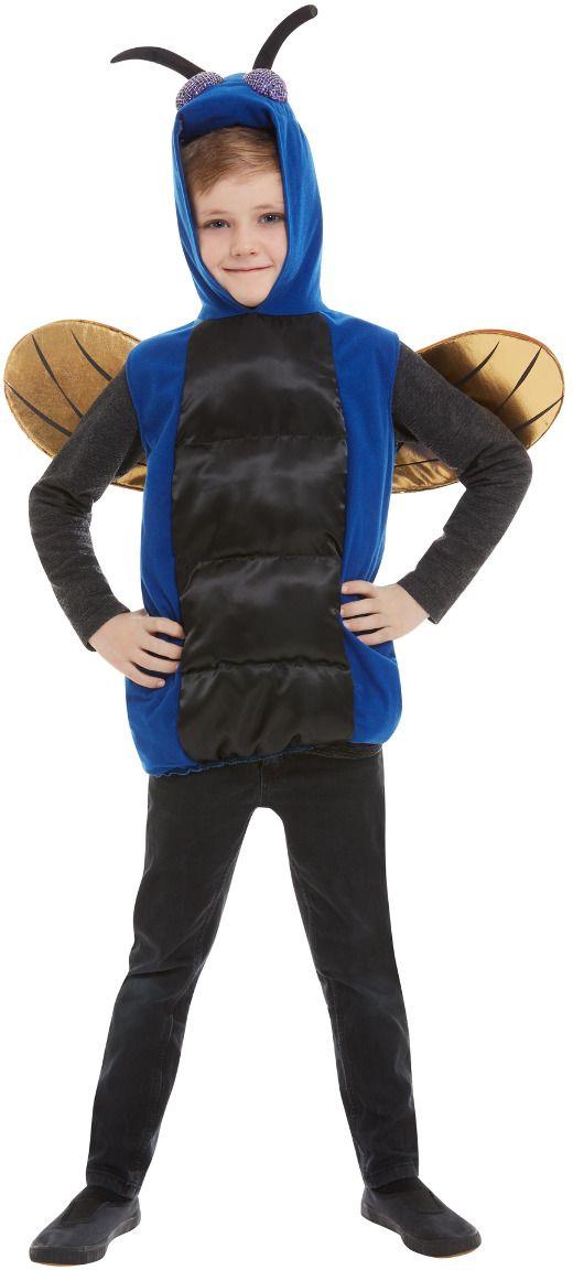 Griezelige insect kostuum blauw