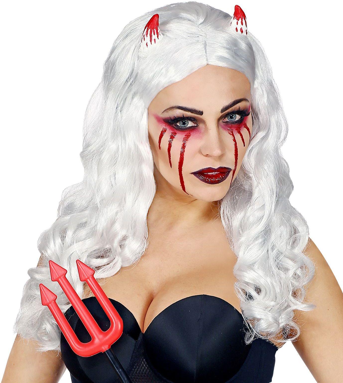 Grijze Halloween pruik