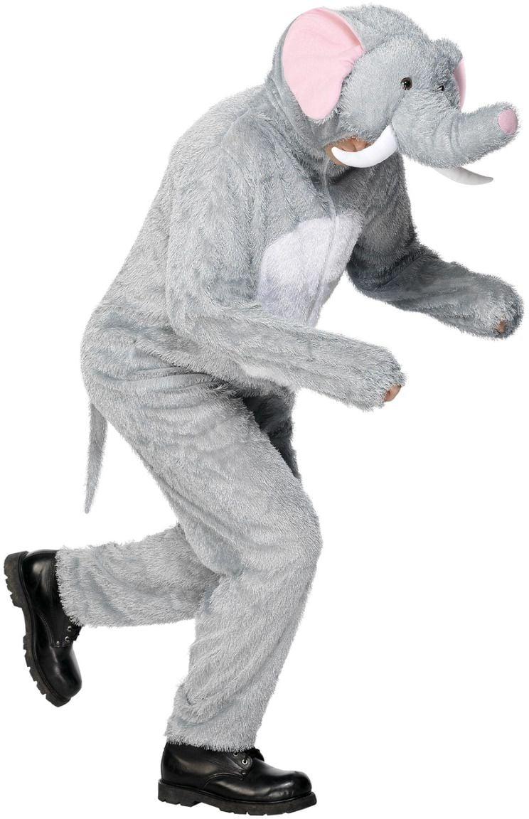 Grijze onesie olifant