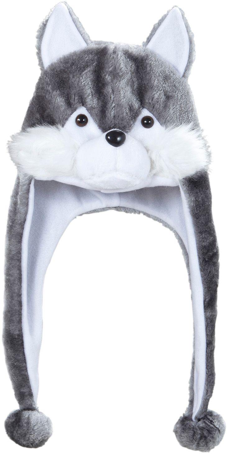 Grijze wolf muts