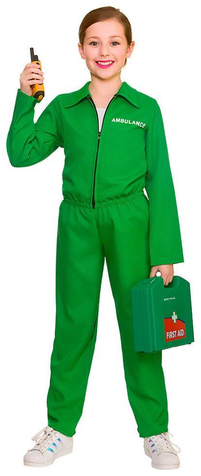 Groen ambulance kostuum