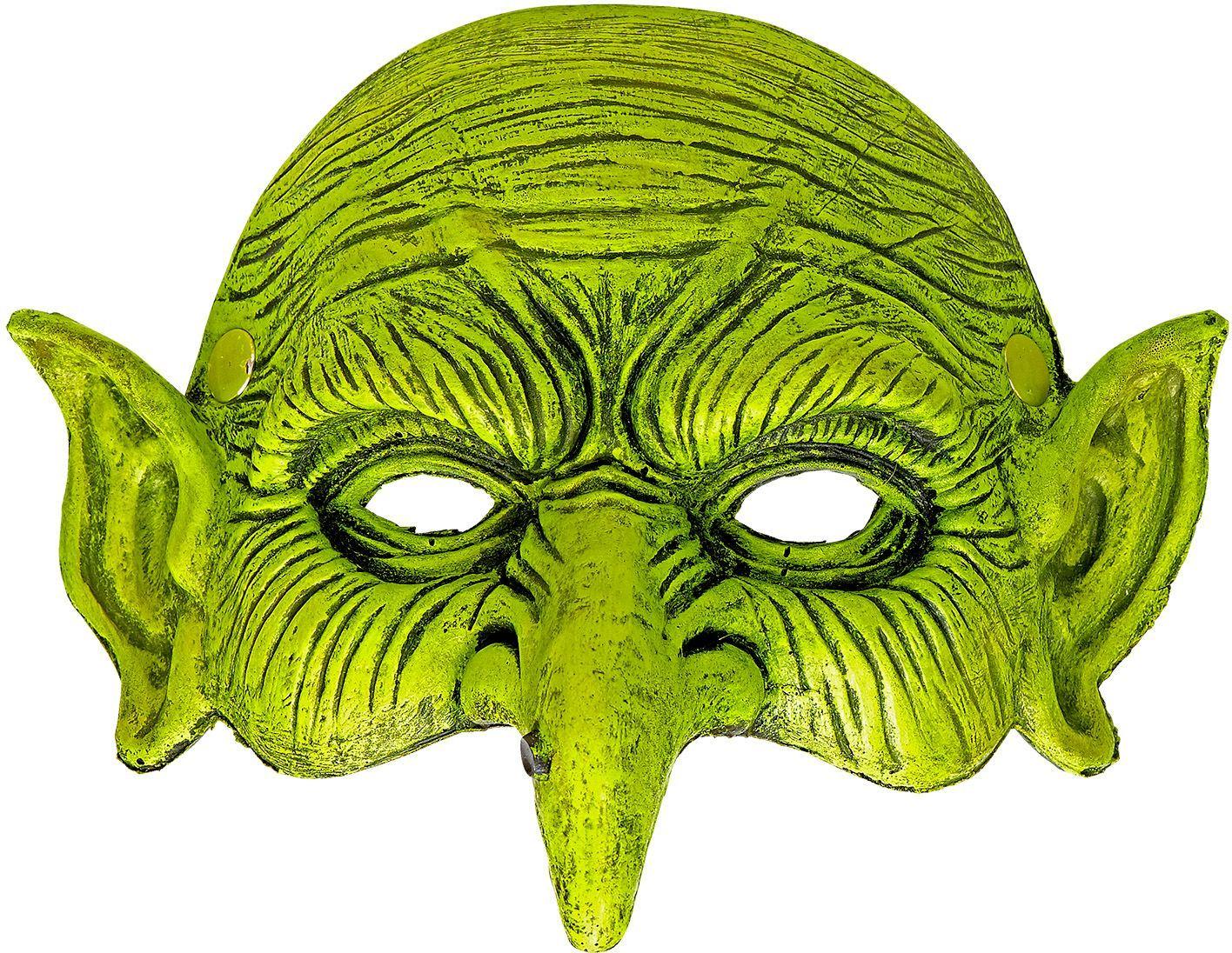 Groen heksen masker