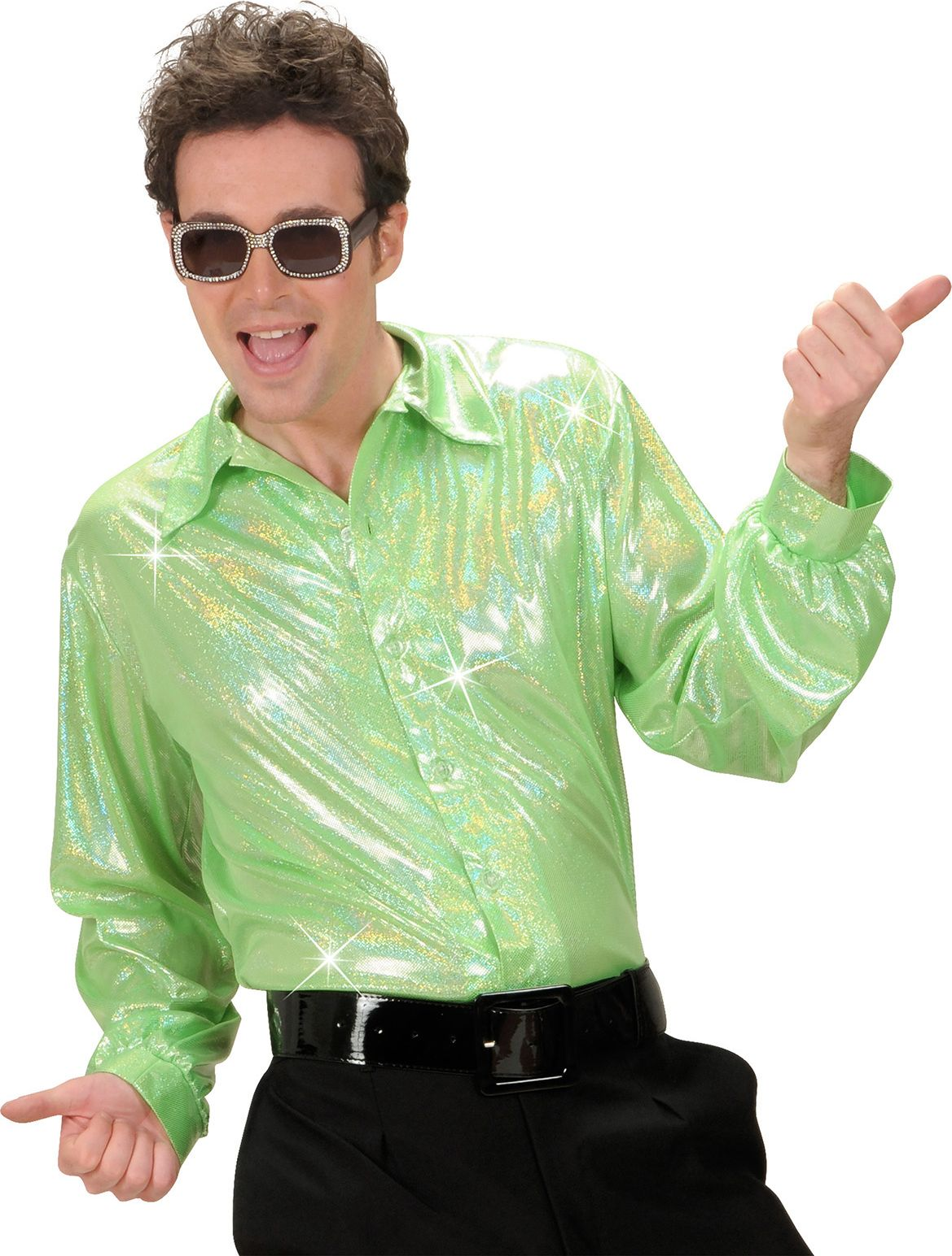 Groen holografisch shirt