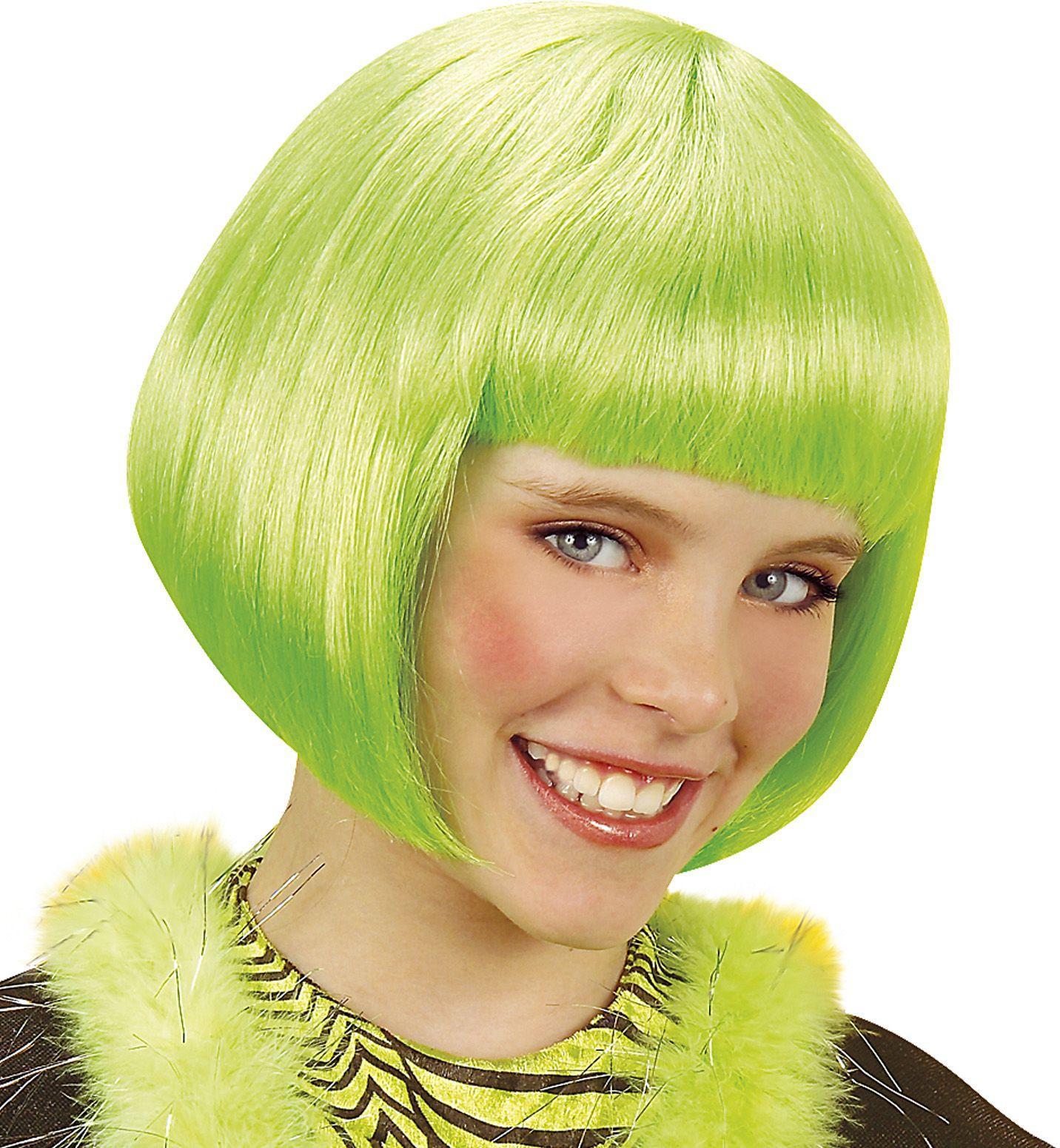 Groen Jenny kinder pruik