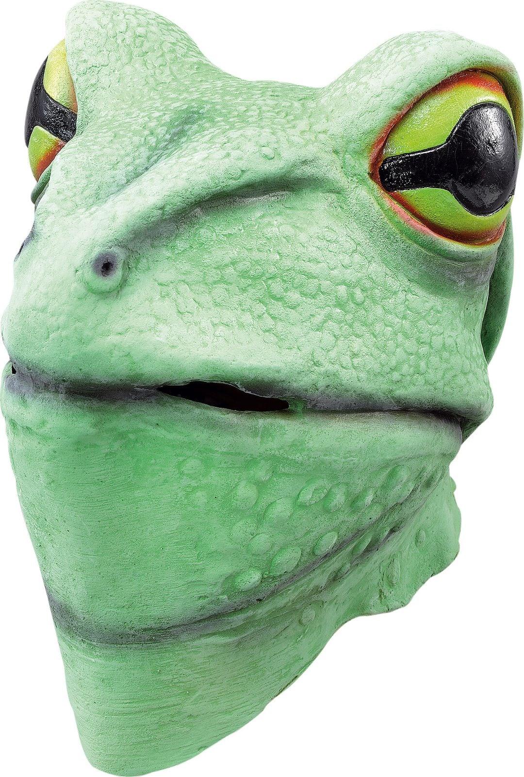 Groen kikker masker