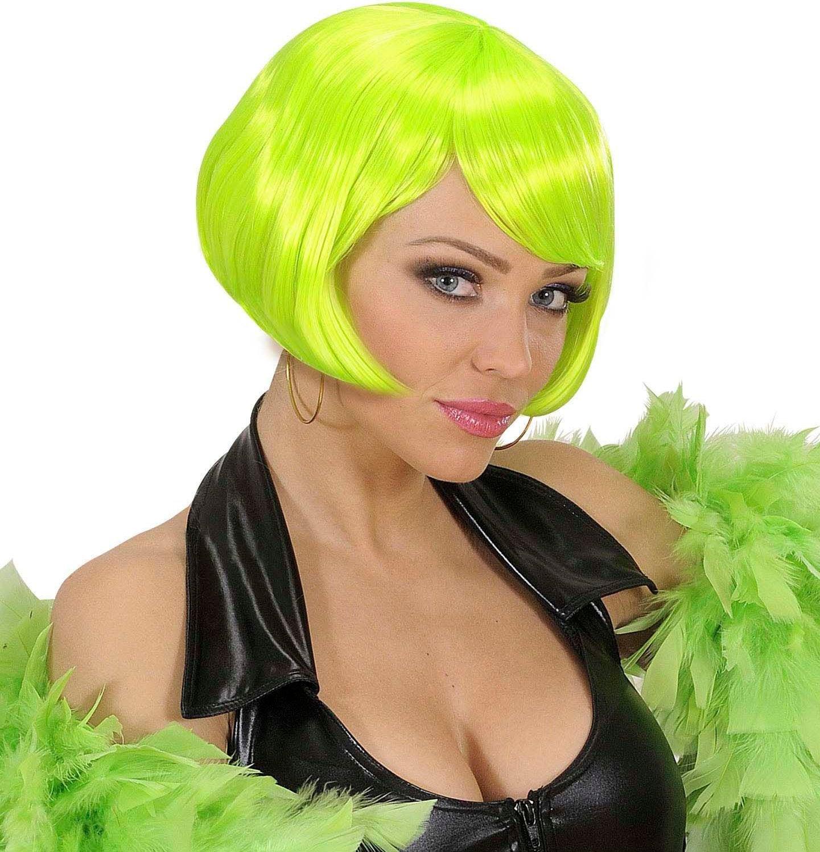 Groen valentina pruik