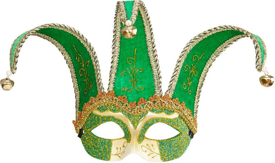 Groen venetiaanse Joker oogmasker